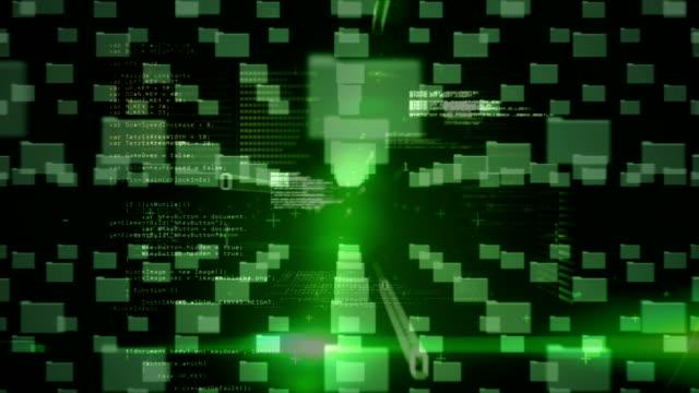 vidéos et rushes de dossiers et code binaire en mouvement - image composite numérique