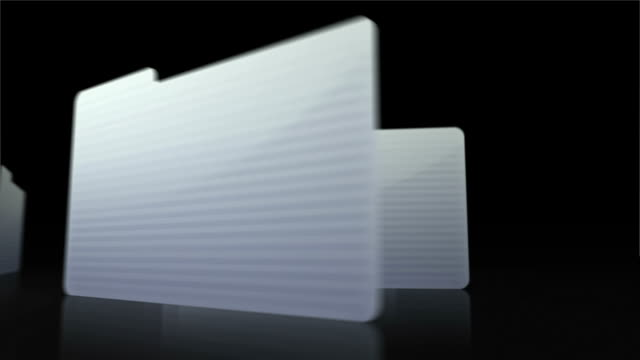 folders in workflow transition animation loop - schedario documento video stock e b–roll