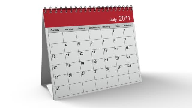 Folding 2011 Desktop Calendar with Alpha Channel video