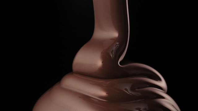 folding chocolate flow - cioccolato video stock e b–roll