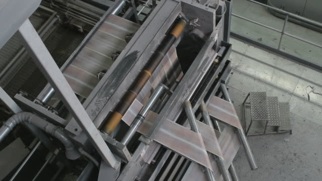 Folding leaflets in a printing factory video