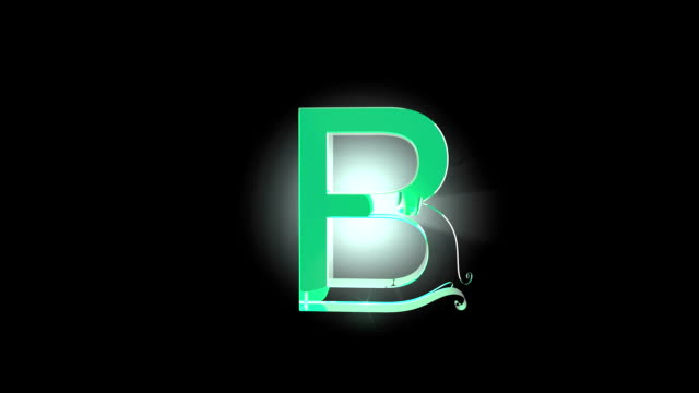 Folding Type Character B Type Character B Folding Animation with Alpha Channell typescript stock videos & royalty-free footage