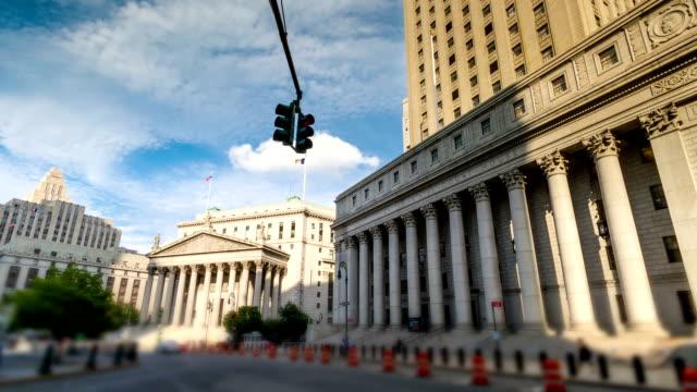 foley square in lower manhattan - domstol bildbanksvideor och videomaterial från bakom kulisserna