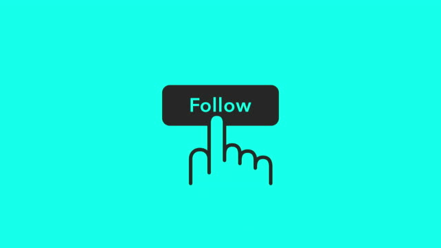 Follow Icons - Vector Animate Follow Icons Vector Animate 4K on Green Screen. following moving activity stock videos & royalty-free footage