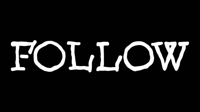 Follow text hand drawn animation video