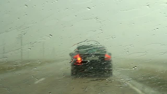 Following Car In Rain video