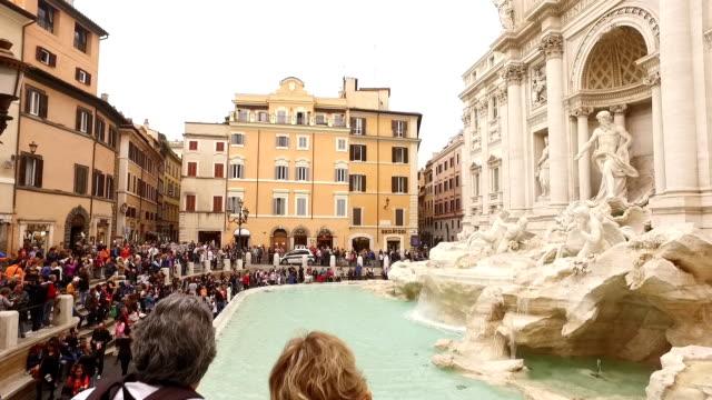 Fontana di trevi landmark of Rome video