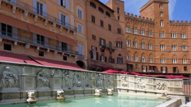 Fonte Gaia fountain at Piazza del Campo, Siena, Tuscany