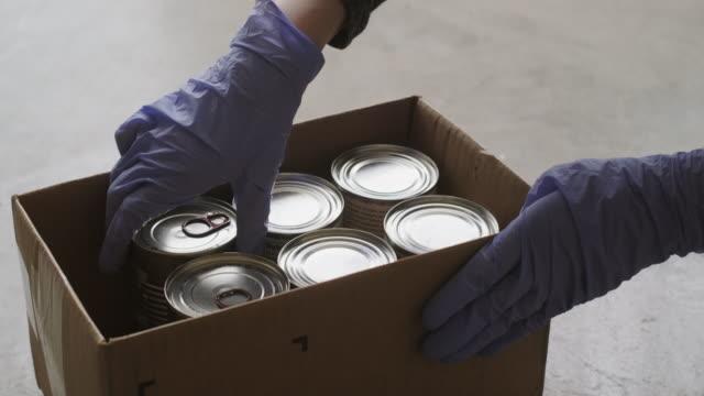 food bank donation center - välgörenhet bildbanksvideor och videomaterial från bakom kulisserna