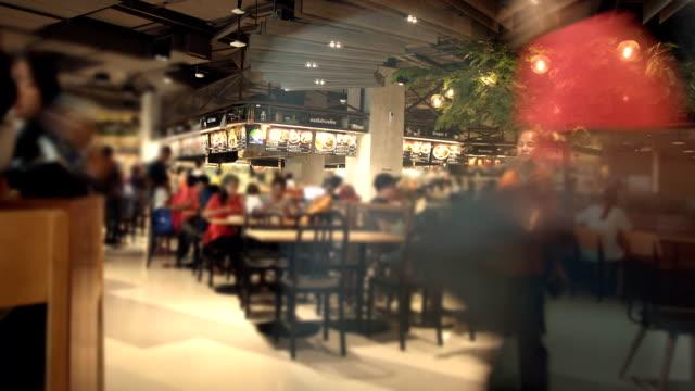 jedzenie center, kawiarnia ekspozycja - stołówka filmów i materiałów b-roll
