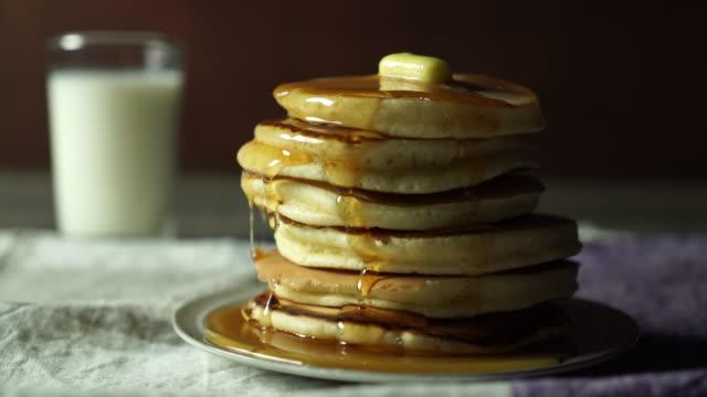 food cinemagraph - pancake video stock e b–roll