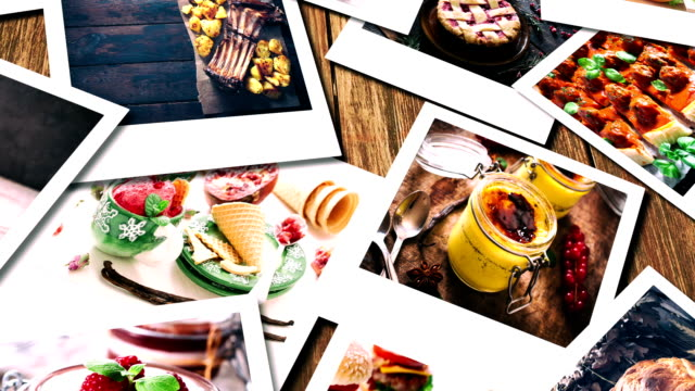 Food collage video