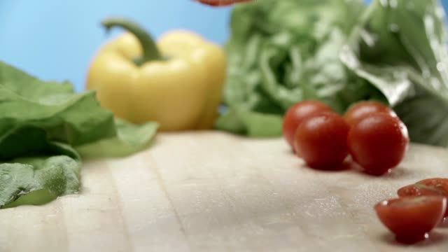 Food composition Food composition - tomato paprika stock videos & royalty-free footage