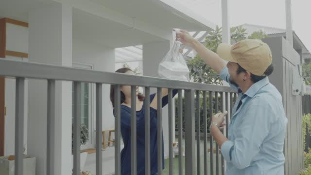 食品配送 - postal worker 個影片檔及 b 捲影像