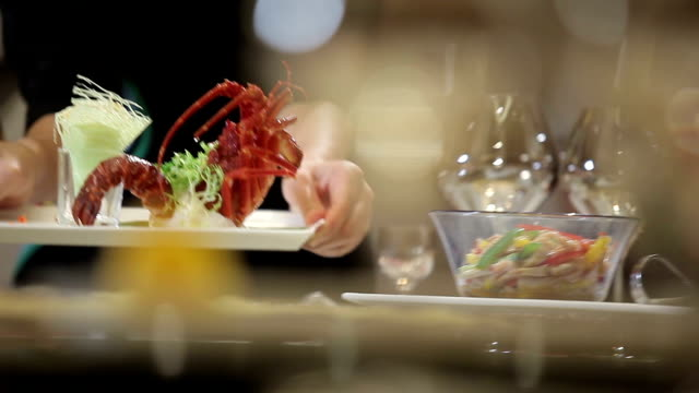 food from the hotel - fine dining stock videos and b-roll footage