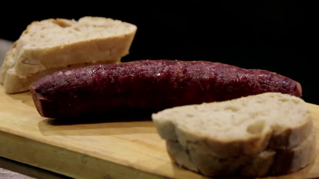 food restaurant Porto Sausage fire video