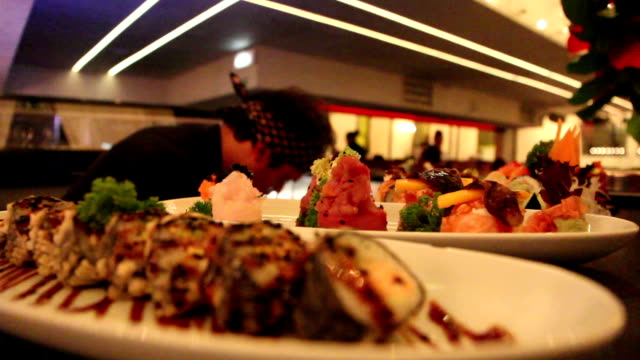Food restaurant sushi video