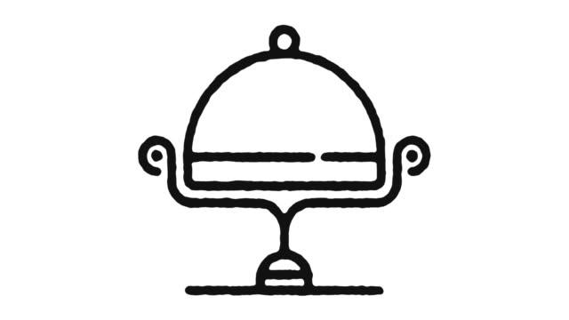 yemek servisi simge animasyon görüntüleri & alpha kanal - gıda ve i̇çecek sanayi stok videoları ve detay görüntü çekimi