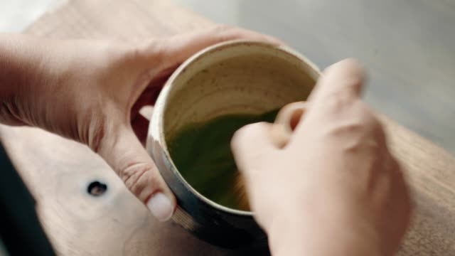 Food stylist creating new menu from Organic Green Matcha Tea video