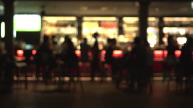 Footage defocus night life Singapore at night bar counter stock videos & royalty-free footage