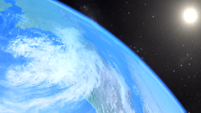 CG footage - fast flight over Earth video