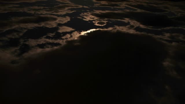 4K footage of a cloudy night sky: clouds rapidly run away video