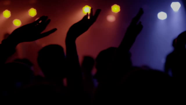 footage of a crowd partying at a rock concert or dj party - hip hop video stock e b–roll