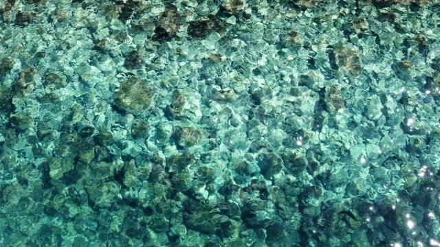 Footage of a crystal sea