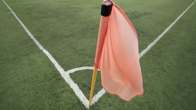 Footage of a football corner flag video