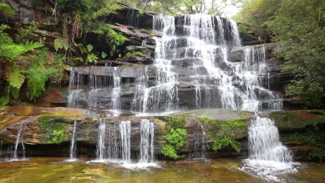 Footage of Frenchs Creek Falls, Sydney, Australia