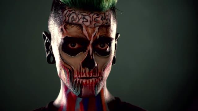 Videos De Libelula Banderin De Halloween Y Videos Libre De Derecho - Maquillaje-zombie-hombre