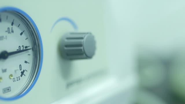 Footage of meter in laboratory