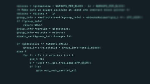 vídeos y material grabado en eventos de stock de metraje de programación código abstracto de la tecnología de fondo para el desarrollador de software y el concepto de script de ordenador - codificar