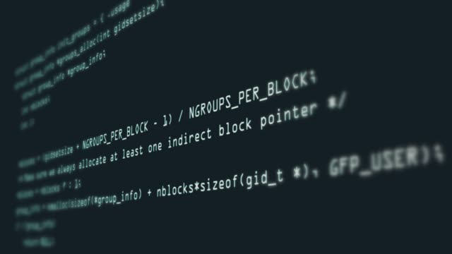Footage of Programming code abstract technology background for software developer and Computer script concept