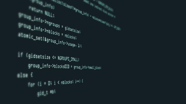 footage of programming code abstract technology background for software developer and computer script concept - crittografia video stock e b–roll