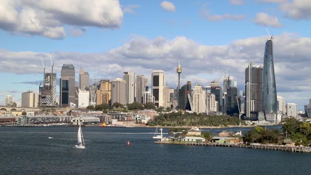 Footage of Sydney Skyline, NSW, Australia