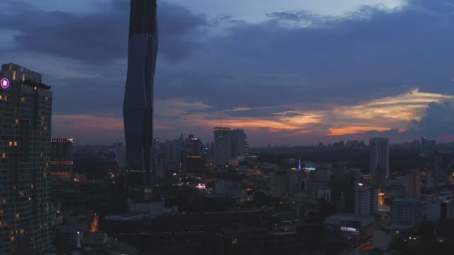 4K Footage sunset of Kuala Lumpur.