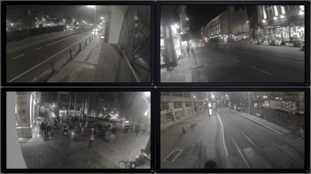 cctv footage - spia video stock e b–roll