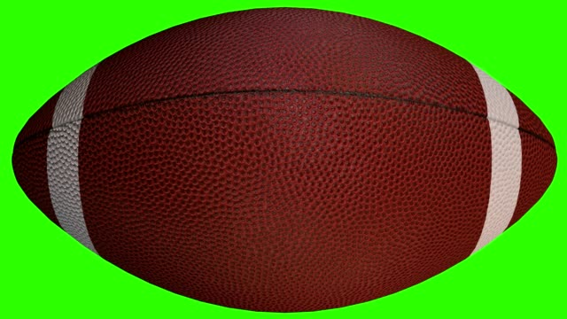 Video Football ball - 3D sport object animated on green screen, video 4K