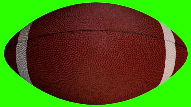 football ball - 3d sport object animated on green screen, video 4k - football filmów i materiałów b-roll