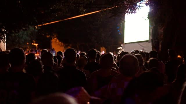 サッカーを見てファンゾーンのサッカーファン。 - 観客点の映像素材/bロール