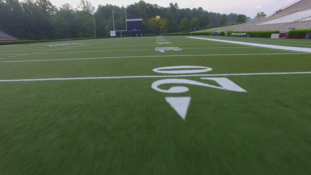 Football Field Fly Over