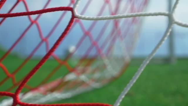 Football goal - ball in the net