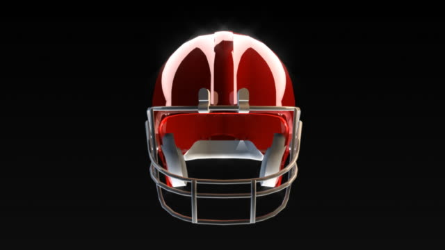 Football Helmet Breaks the Camera  work helmet stock videos & royalty-free footage