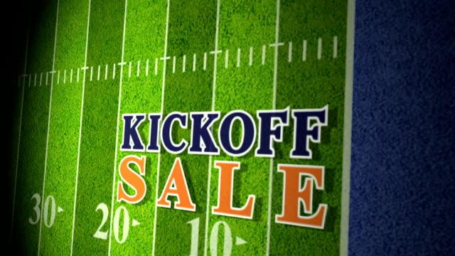 Football Kickoff Sale Title Animation blue-orange HD video