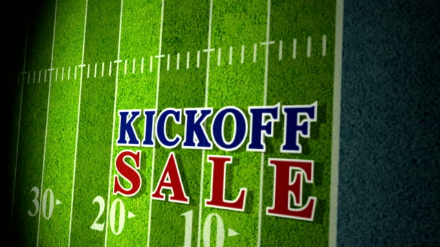 Football Kickoff Sale Title Animation blue-red HD video