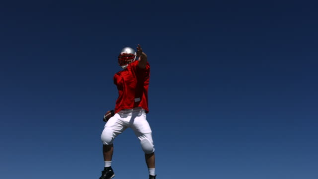 Football player spikes ball, slow motion  touchdown stock videos & royalty-free footage