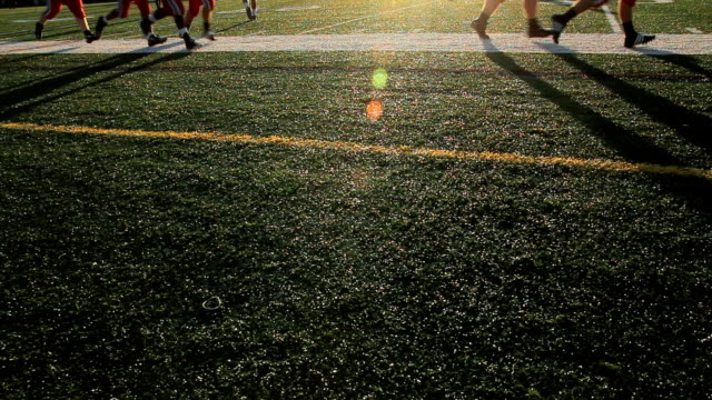 Football Players Running Shadows video
