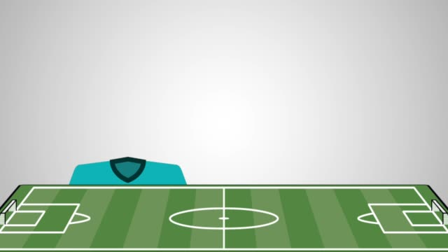 football soccer set uniforms animation video