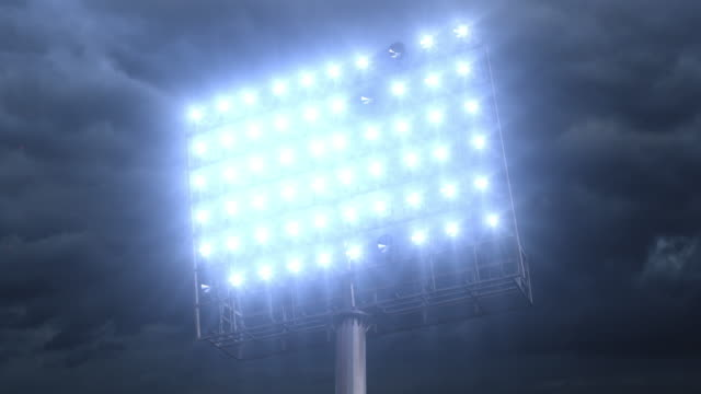 Football stadium lights video